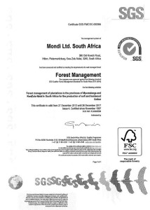 Forest Management Certificate for Pallets
