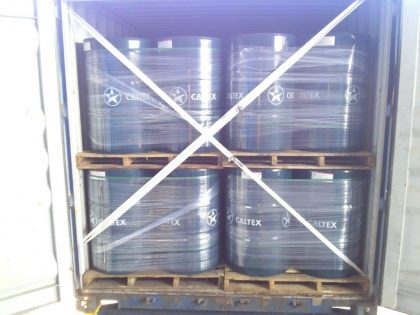 200 Litre Drums Packed Into FLC